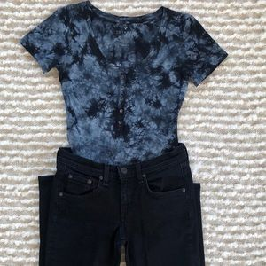 American Eagle | Tie-dyed T-shirt Bodysuit